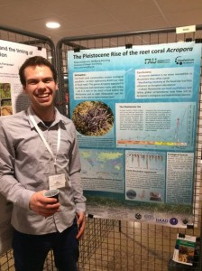Student presenting at the Palaentological Association Annual Meeting in Lyon, 2016
